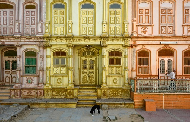 Facades of old houses in Sidhpur.