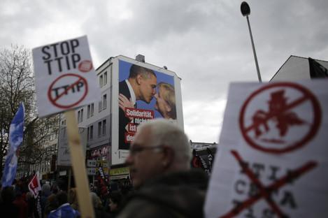 Germany Obama TTIP Protest