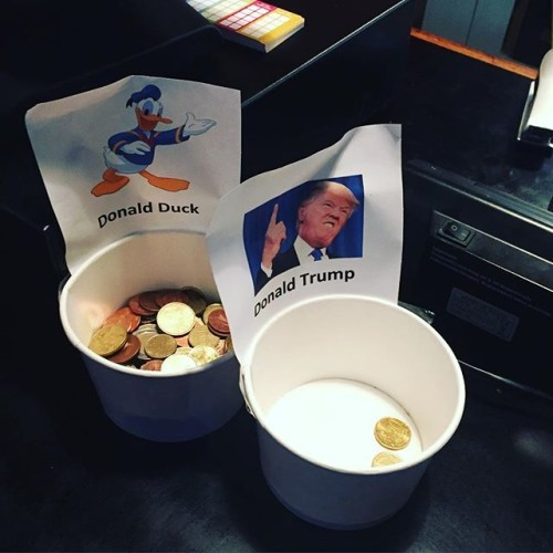 The people have spoken #duck2016 #donald2016 #donaldduck #presidentialelection #donaldforpresident #votewithtips #ig_dublin #igdublin #lovindublin #dublinsaysno