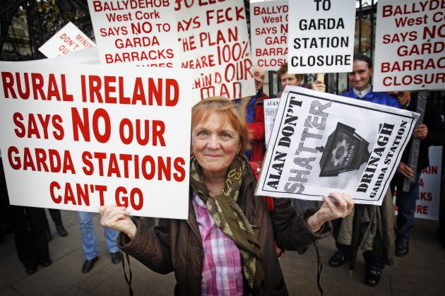 Rural Garda station protest