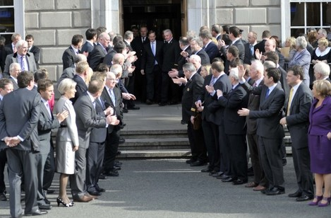 File Photo The Last Time Enda Kenny was Voted Taoiseach.