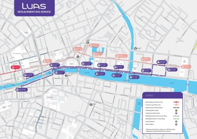 Luas Replacement Bus Service_Route Map