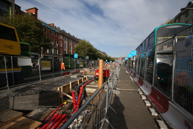 29/10/2015. Rail Tracks Welded on O Connell Street