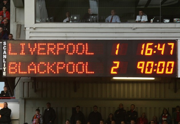 Soccer - Barclays Premier League - Liverpool v Blackpool - Anfield