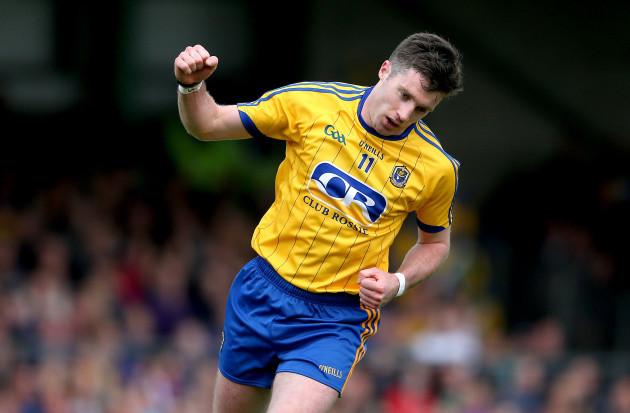 Cathal Cregg celebrates scoring a point