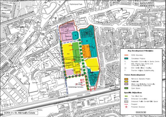 St. Michael's Estate Site from the Housing Land Initiative Feasibility Study Dec 2015/ DublinCity.ie