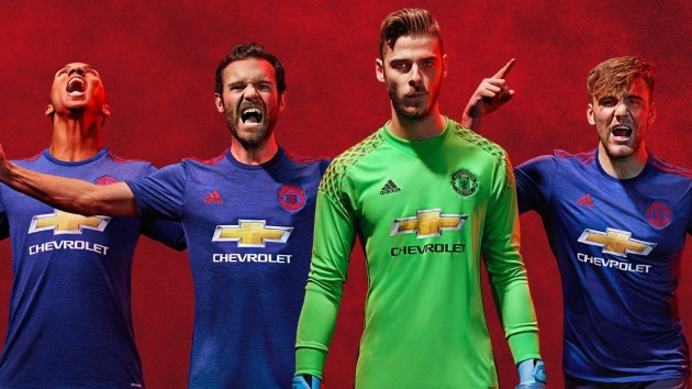Man United are going back to blue - here s their new away kit for next  season ab4c9f1f7