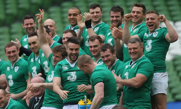 Ireland v Scotland - 2016 RBS Six Nations - Ireland Captain's Run - Aviva Stadium