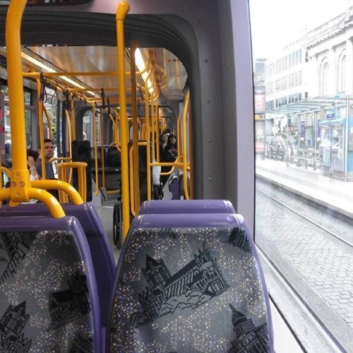 On the luas. Last week of living in Dublin, then moving back to Cavan. #bittersweet #Dublin #luas #home #Cavan #moving #soon #exam #season #picoftheday #pretty #photo #tram