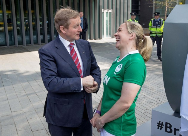 Enda Kenny and Niamh Briggs