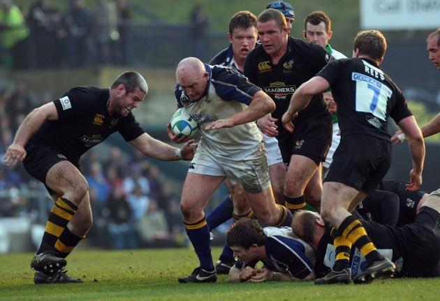 Bernard Jackman tackled by Peter Bracken and Tom Rees
