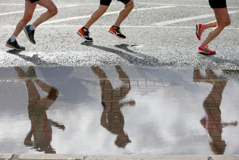 A view from this year's Belfast City Marathon