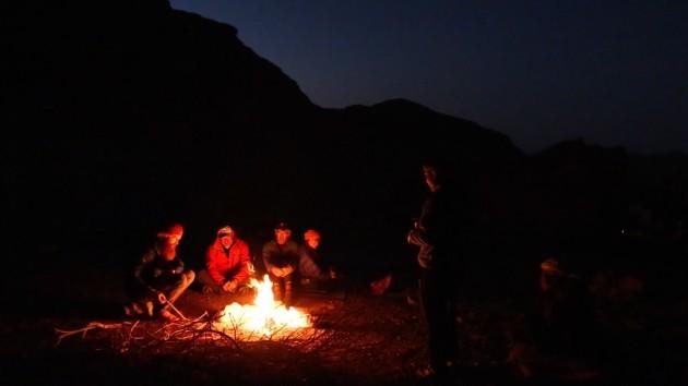Campfire in Wadi Qseib