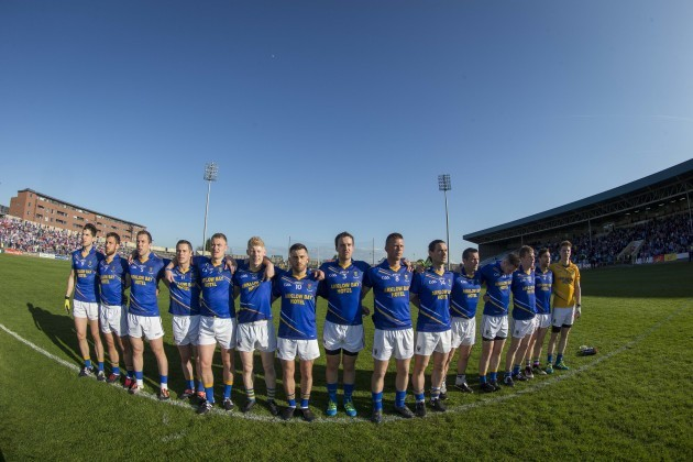 Wicklow stand for the national anthem