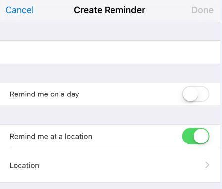 Create reminder iPhone