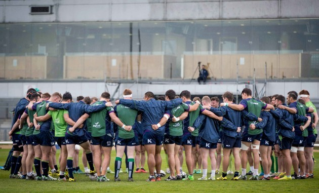 A general view of Connacht training