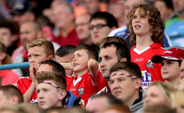 Dejected Cork fans