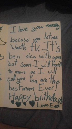A little girl wrote her mam a fairly devastating break-up letter