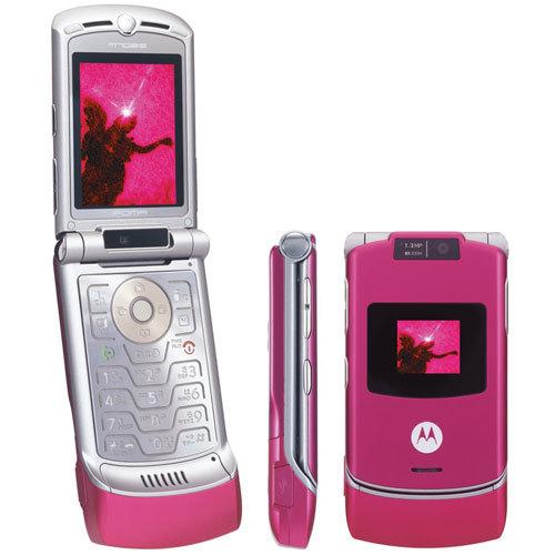 Motorola Razer + Pink +