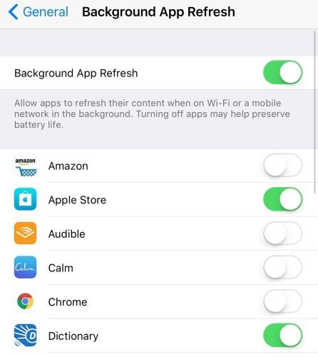 Background app refresh