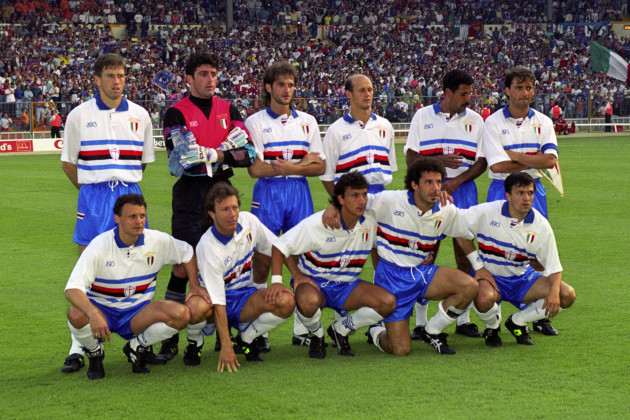 Soccer - European Cup Final - Barcelona v Sampdoria - Wembley Stadium, London