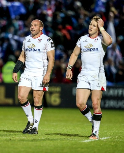Rory Best and Craig Gilroy dejected