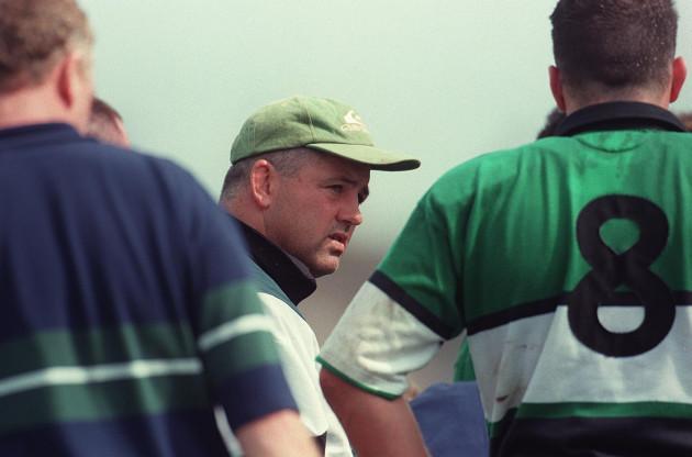 Connacht 16/8/1997 Warren Gatland coach © INPHO / Patrick Bolger