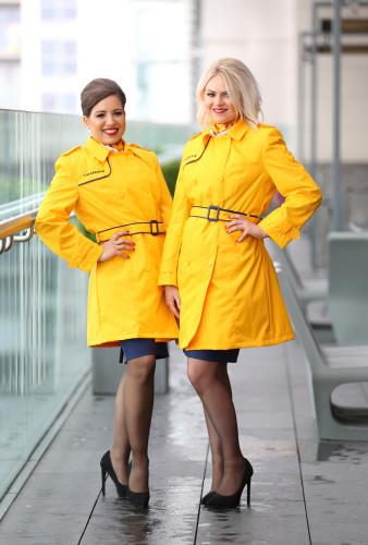 03/09/2015. Ryanair's staff dressed in new unifo