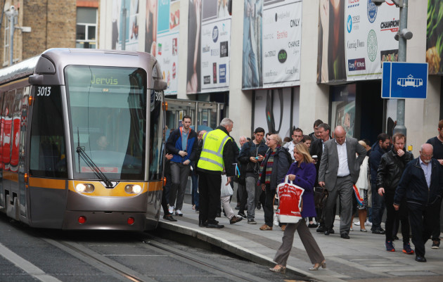 23/05/2016.Luas Line to close for two months. Pict