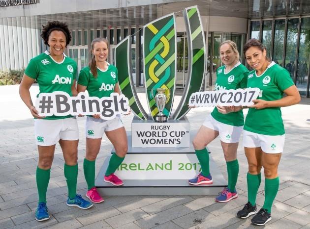 Sophie Spence, Clare McLoughlin, Niamh Briggs and Sene Naoupu