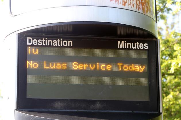 13/5/2016. Luas Drivers Strikes Disputes