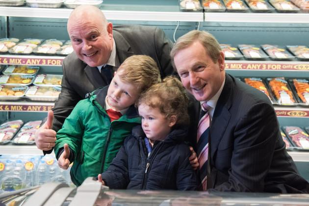 Taoiseach Enda Kenny on a visit to Trim,County Meath