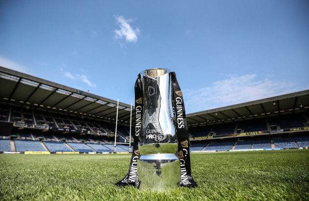 A view of the Guinness PRO12 trophy