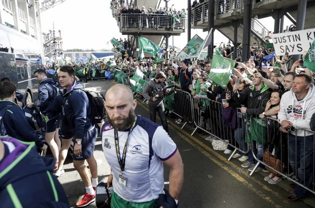 Connacht fans before the match