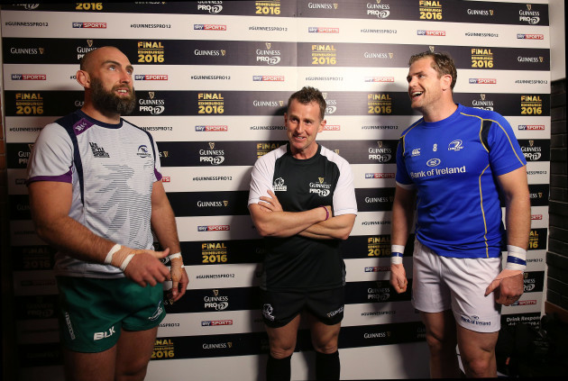 John Muldoon, Jamie Heaslip with Nigel Owens