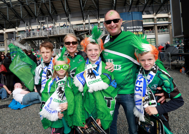 Connacht fans ahead of the game