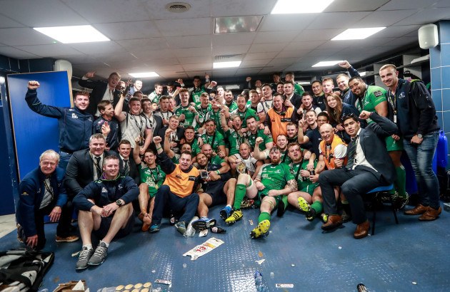 The Connacht team celebrate