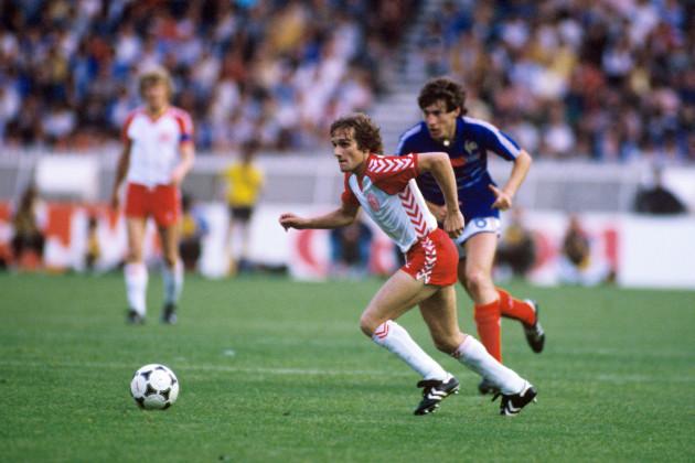 Soccer - European Championships France 1984 - Group One - Denmark v France - Parc des Princes