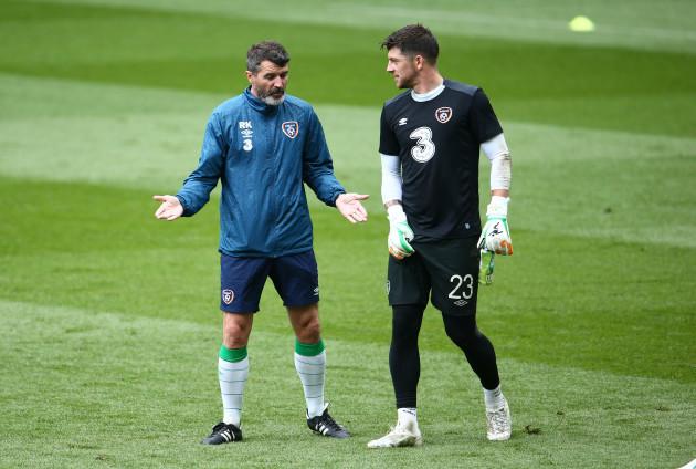 Roy Keane and Keiren Westwood