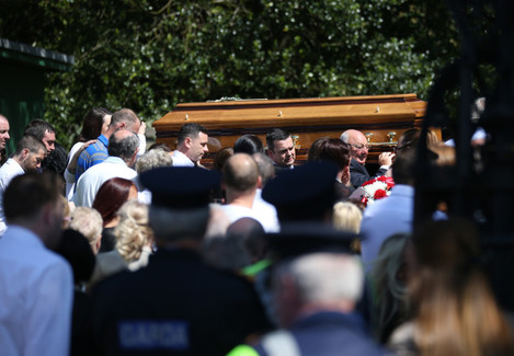 3/6/2016 Gareth Hutch Funeral. Mourners arrive for