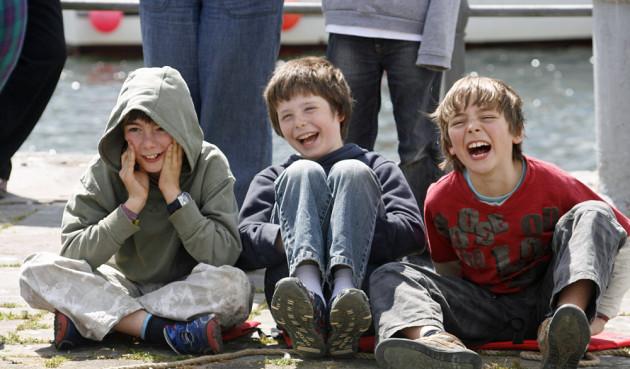 The three gigglers