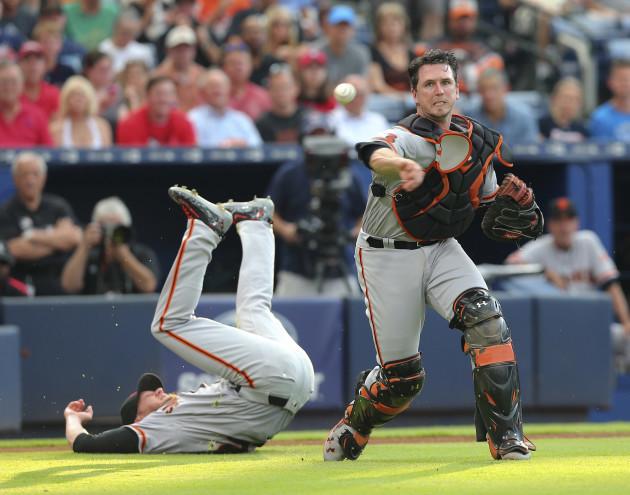 Giants Braves Baseball