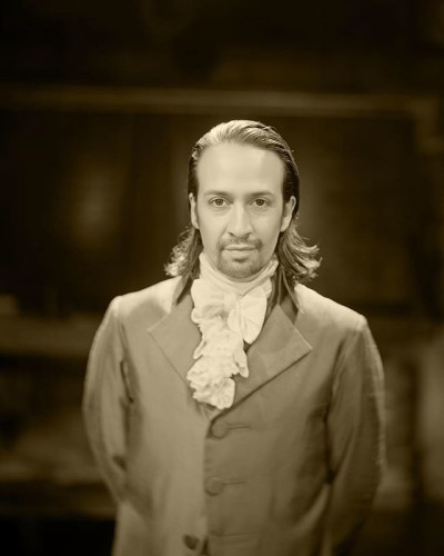 Lin-Manuel Miranda as Alexander Hamilton, who was born on this day in 1755 or 1757 (exact date unclear). The world would never be the same. Photo: JoshLehrer.com with a camera lens from the mid 1800s.