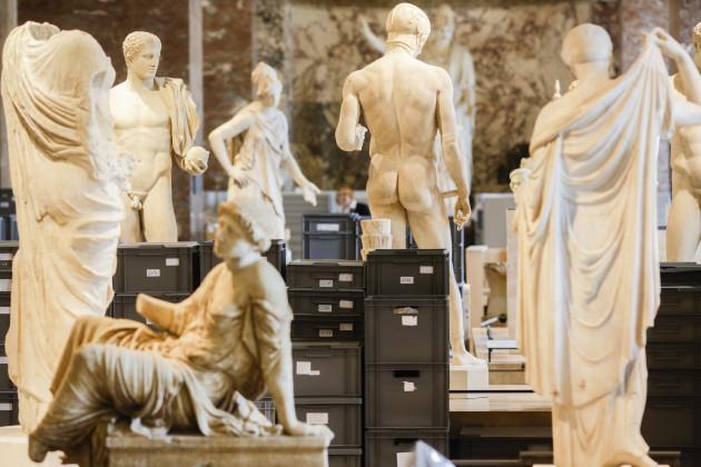 France Floods Louvre