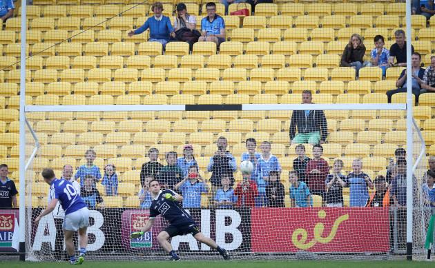 Paul Cahillane scores a penalty