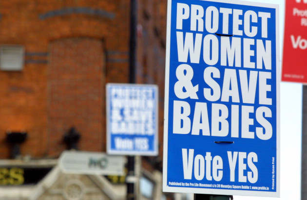 ABORTION REFERENDUM CAMPAIGN POSTERS RELIGIOUS ISSUES RELIGION IN IRELAND