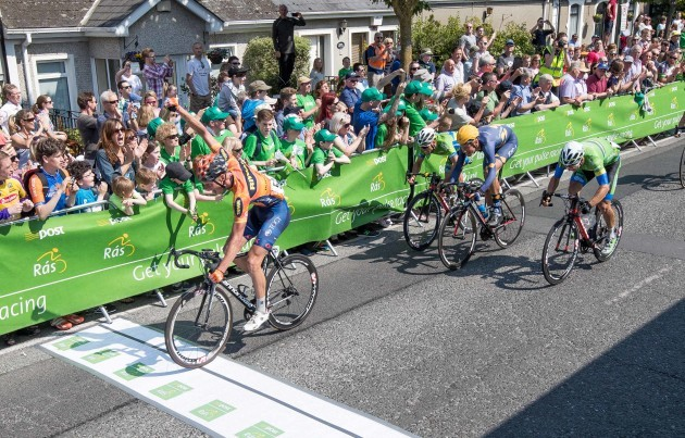 Nicolai Brochner of Denmark Riwal wins Stage 8 of the An Post Rás