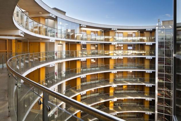 The Interior Of Apartment Complex