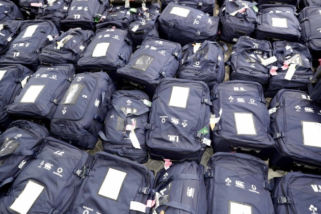 All the Ireland Squad baggage in the hotel