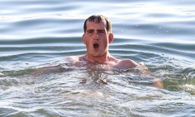 Devin Toner in the water